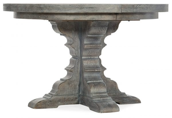 Beaumont Round Dining Table with 48in Wood Top w/2-12in leaves