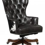 Katherine Executive Swivel Tilt Chair w/ Black & White HOH