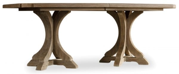 Corsica Rectangle Pedestal Dining Table w/2-20in Leaves