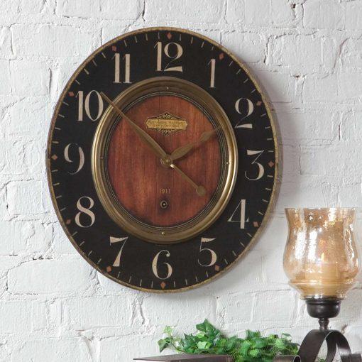 """Uttermost Alexandre Martinot 23"""" Clock"""