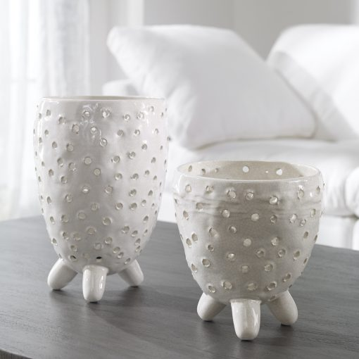 Uttermost Milla Mid-Century Modern Vases, S/2