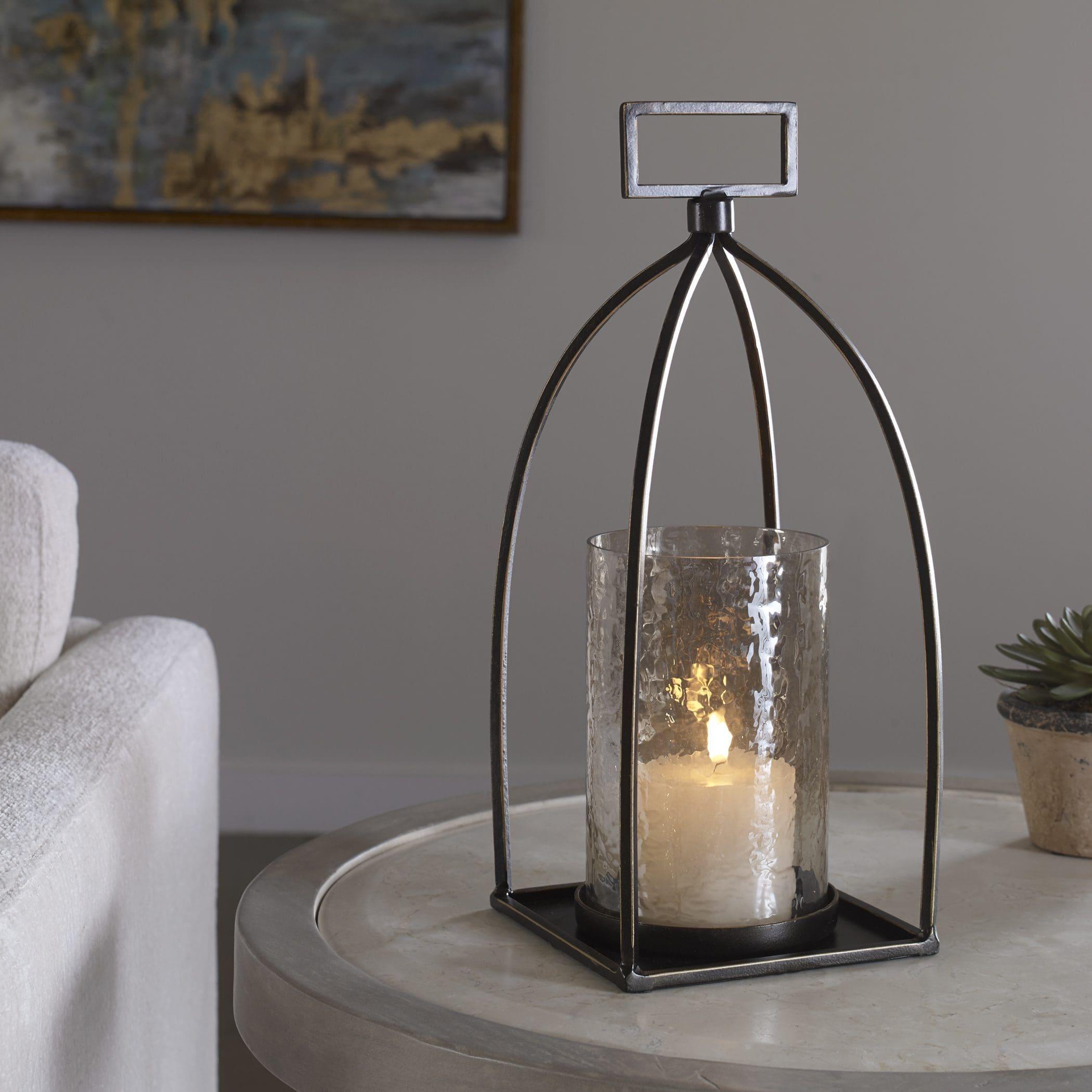 Uttermost Riad Bronze Lantern Candleholder
