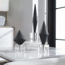 Uttermost Alize Black Sculptures,, S/3