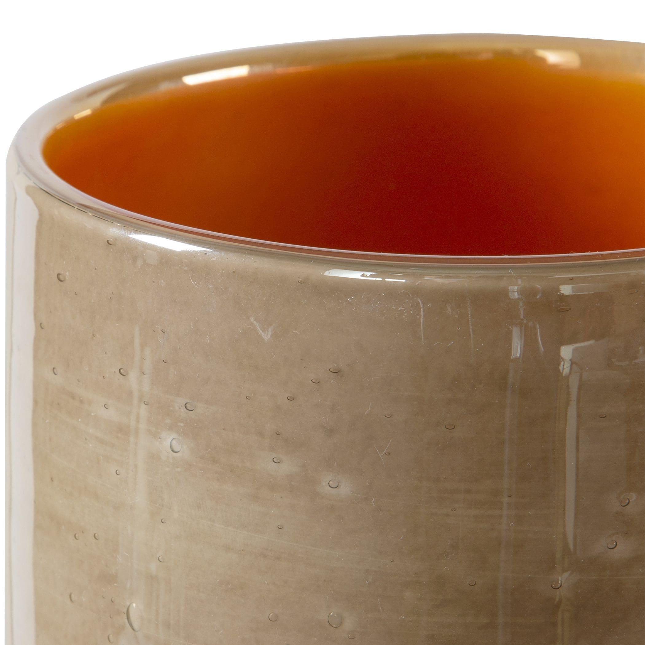 Uttermost Tangelo Beige Orange Vases, S/2