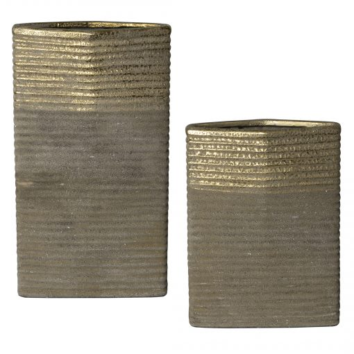 Uttermost Riaan Ribbed Vases, S/2