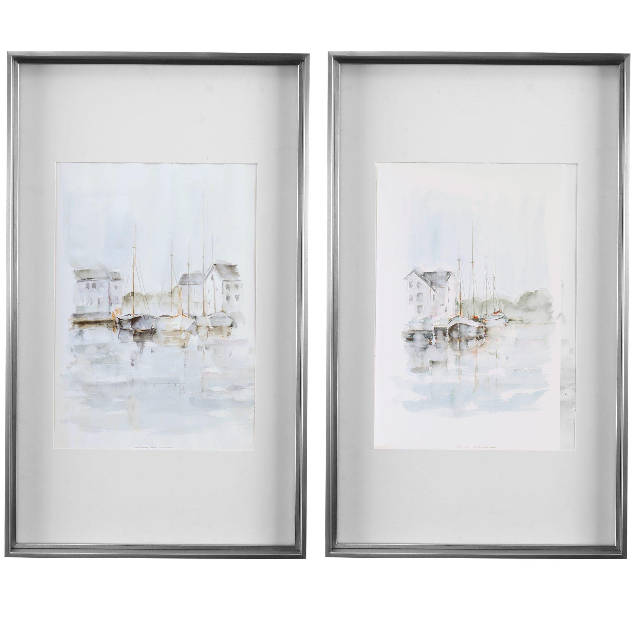 Uttermost New England Port Framed Prints, S/2