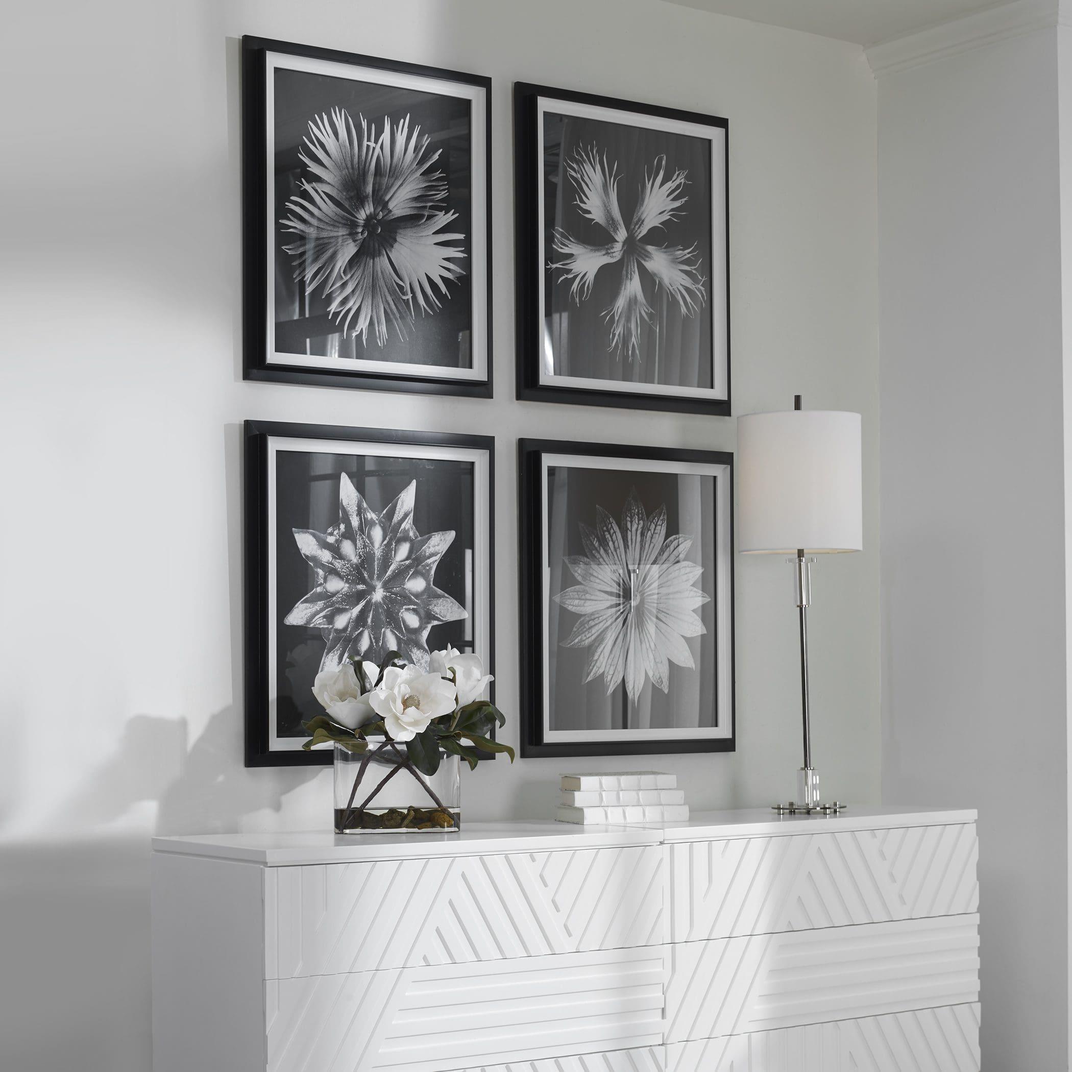 Uttermost Contemporary Floret Framed Prints, S/4