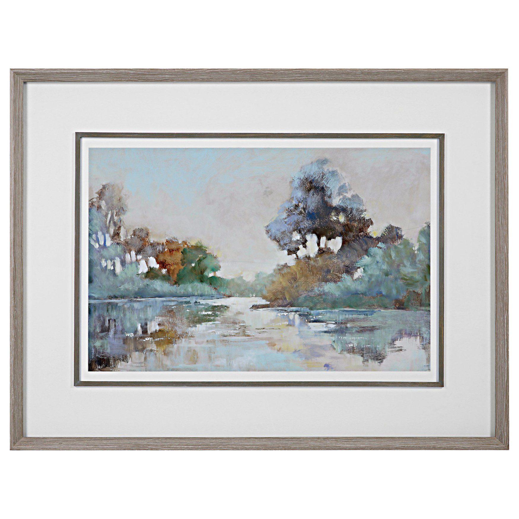 Uttermost Morning Lake Watercolor Framed Print