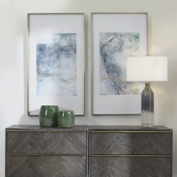 Uttermost Undulating Oro Abstract Prints, S/2