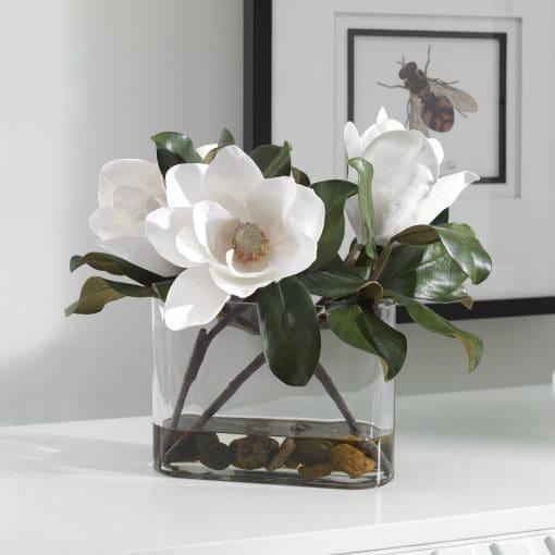 Uttermost Middleton Magnolia Flower Centerpiece