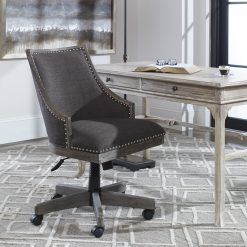 Uttermost Aidrian Charcoal Desk Chair