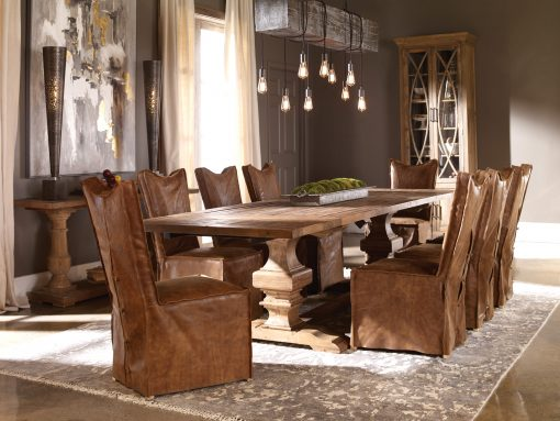 Uttermost Delroy Armless Chairs, Cognac, Set Of 2