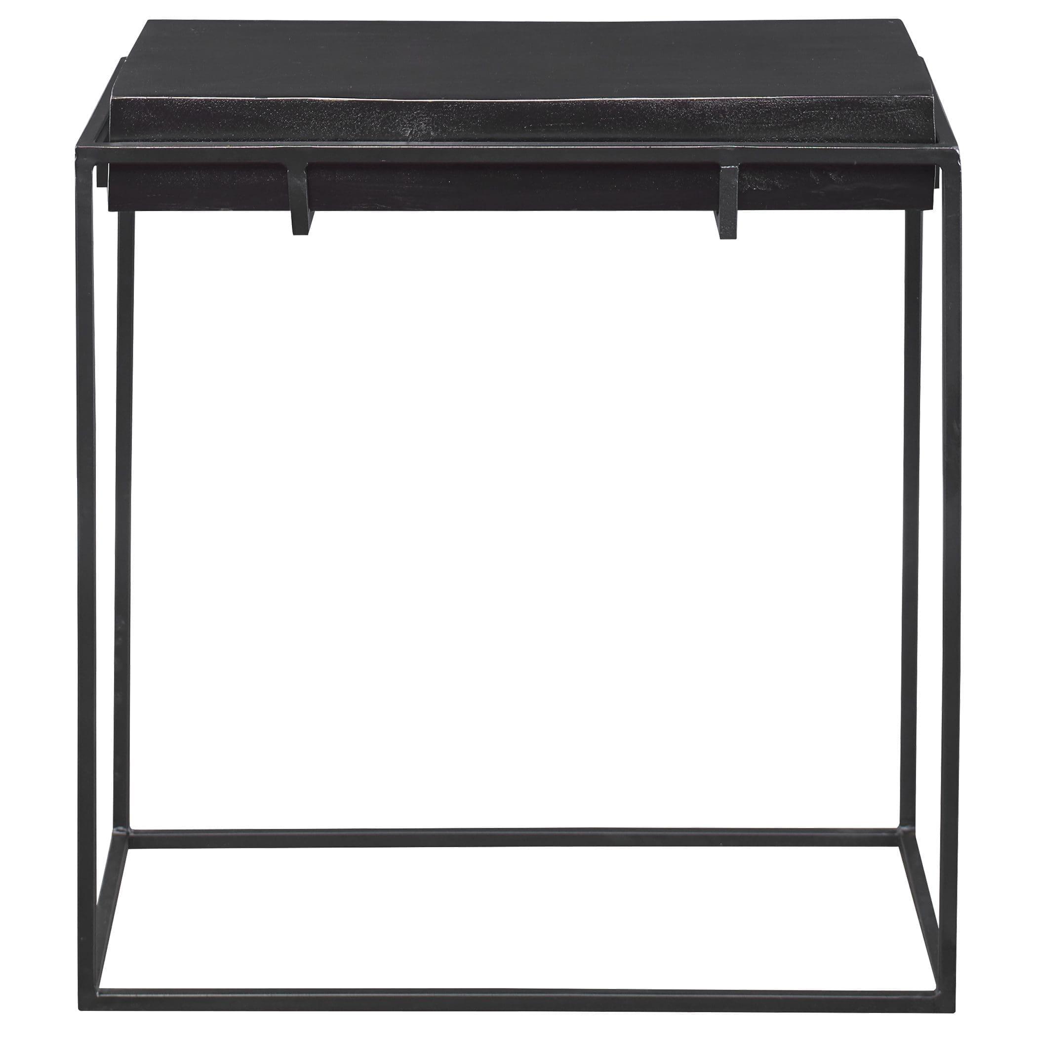 Uttermost Telone Modern Black Side Table