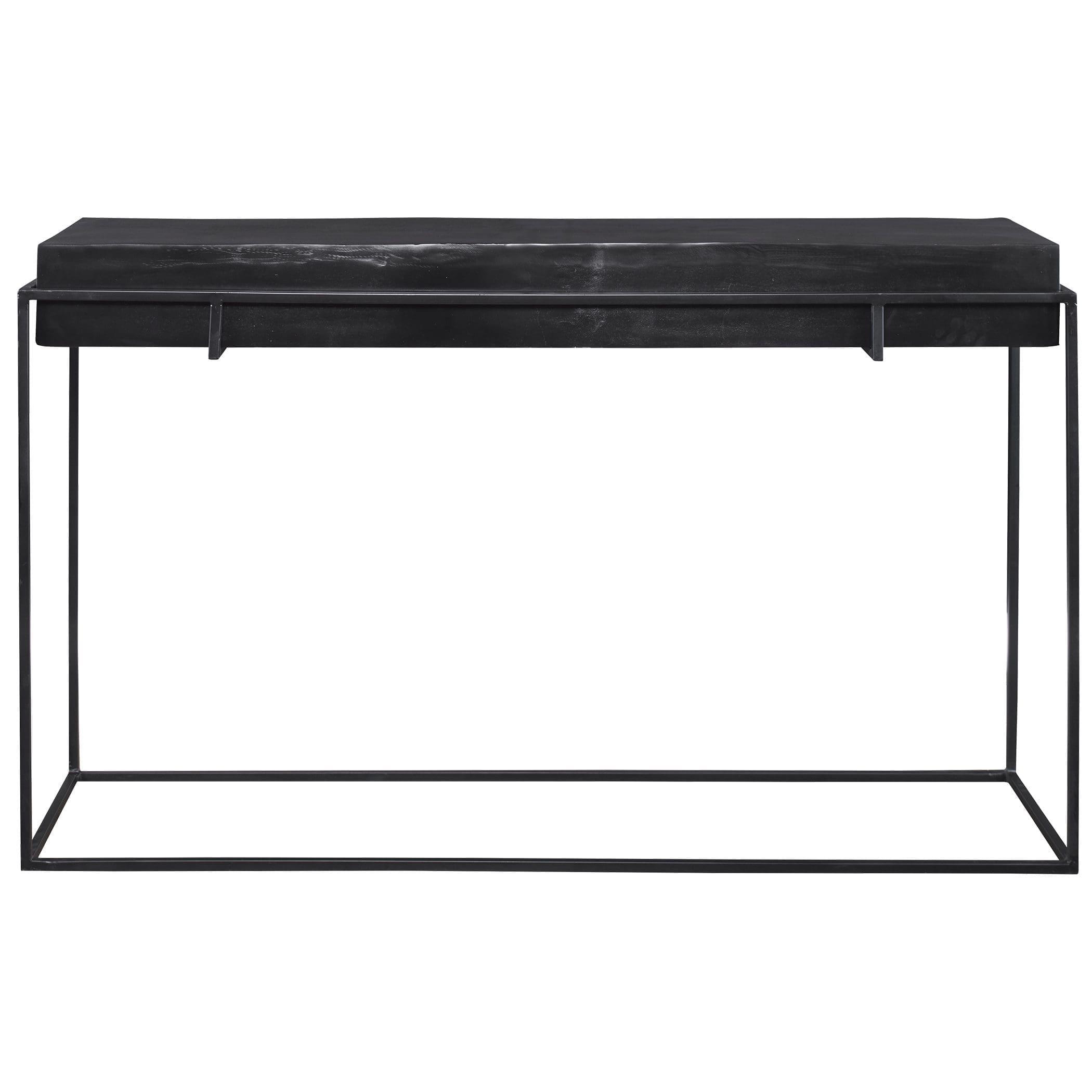 Uttermost Telone Modern Black Console Table