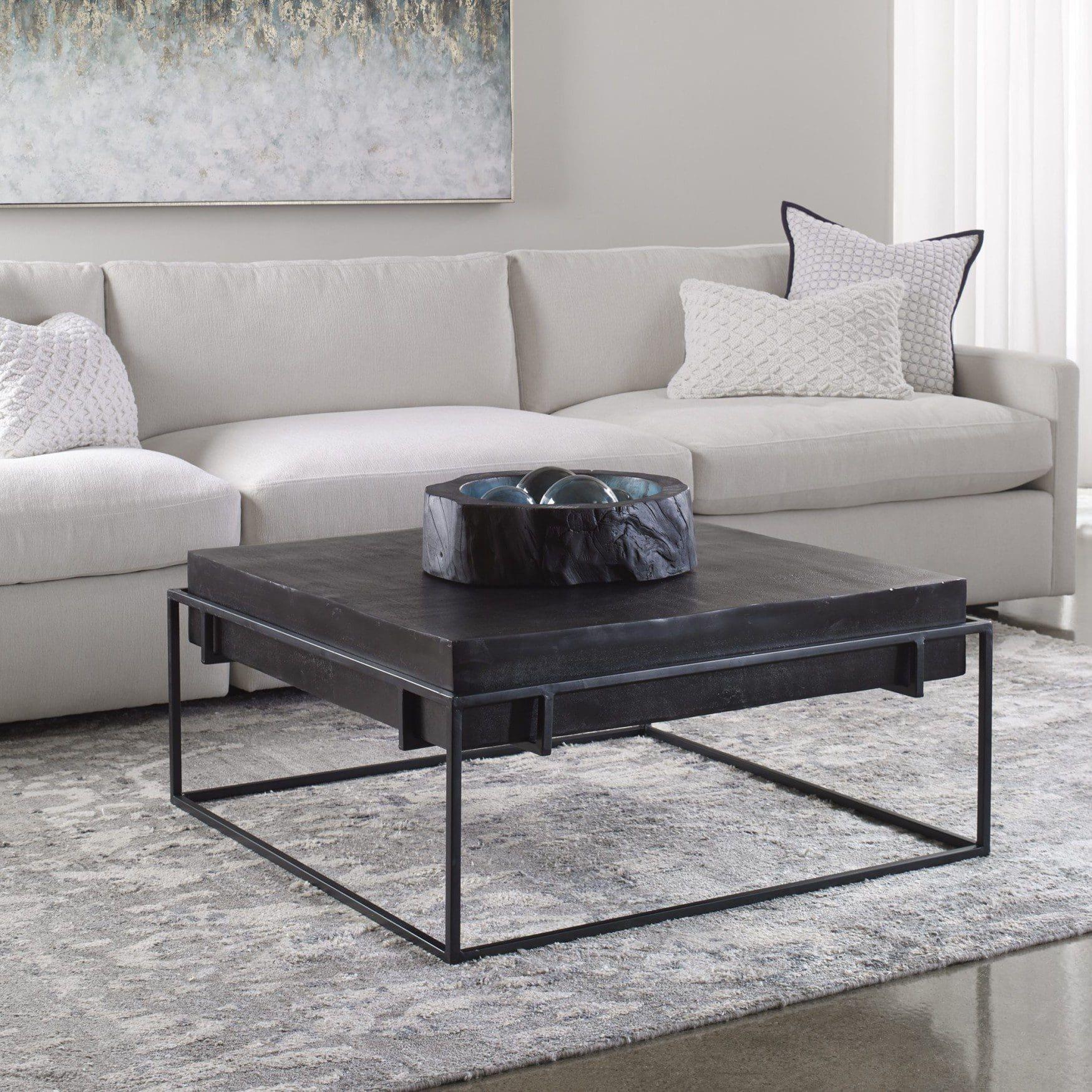 Uttermost Telone Modern Black Coffee Table