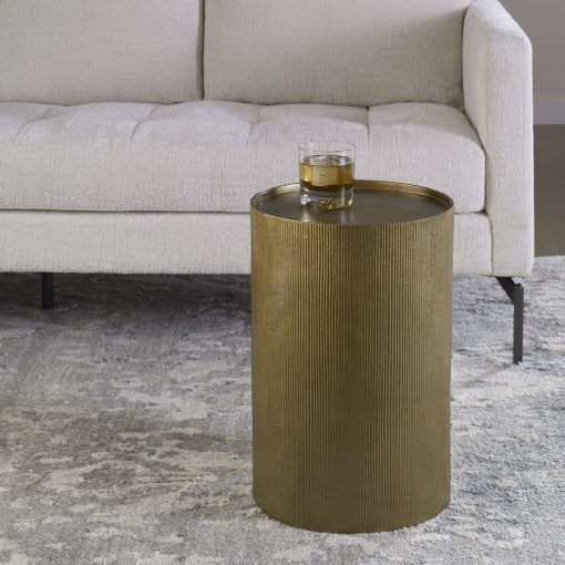 Uttermost Adrina Drum Accent Table