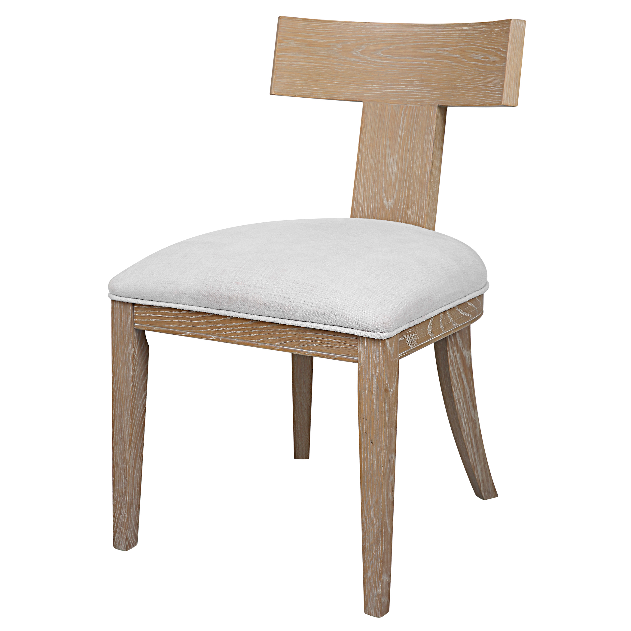 Uttermost Idris Armless Chair Natural