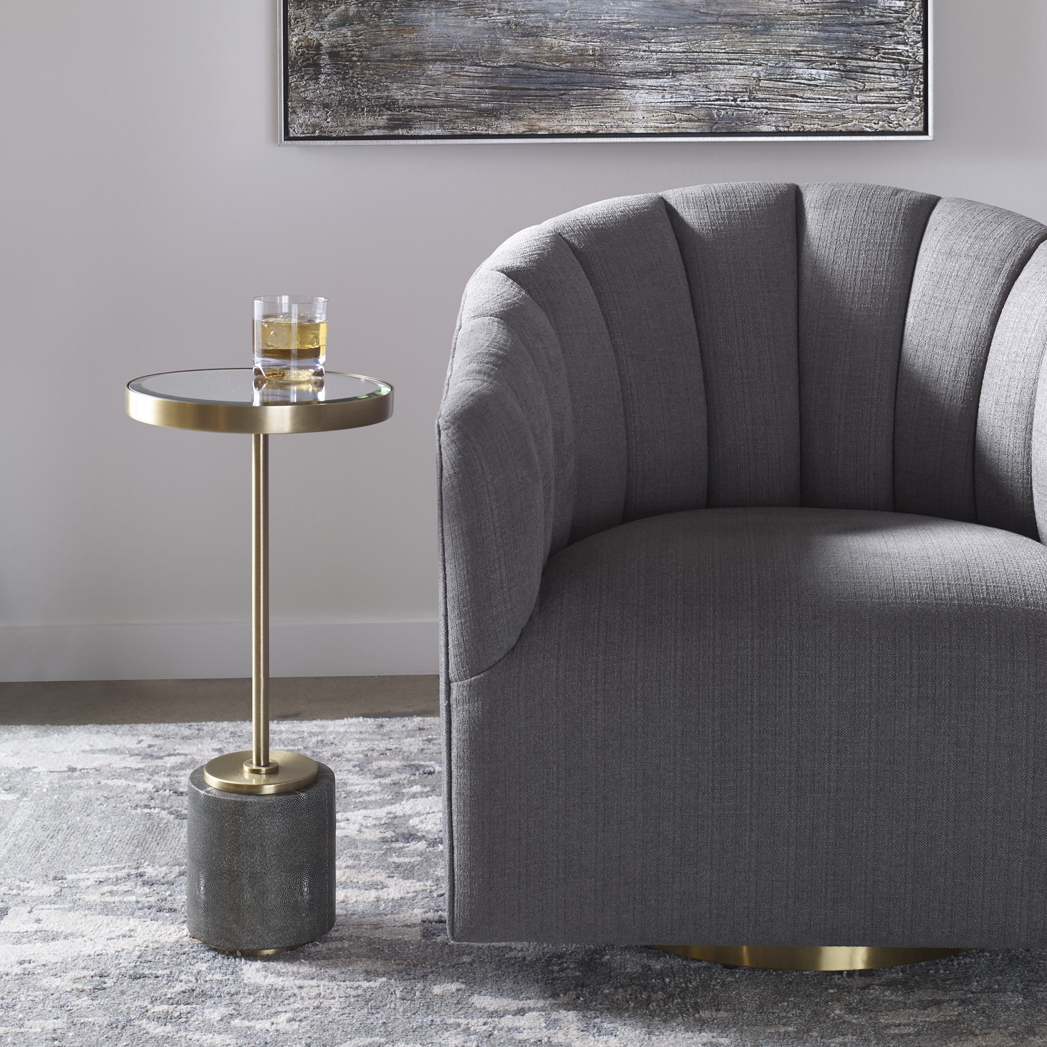Uttermost Laurier Mirrored Accent Table