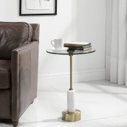 Uttermost Portsmouth Round Accent Table