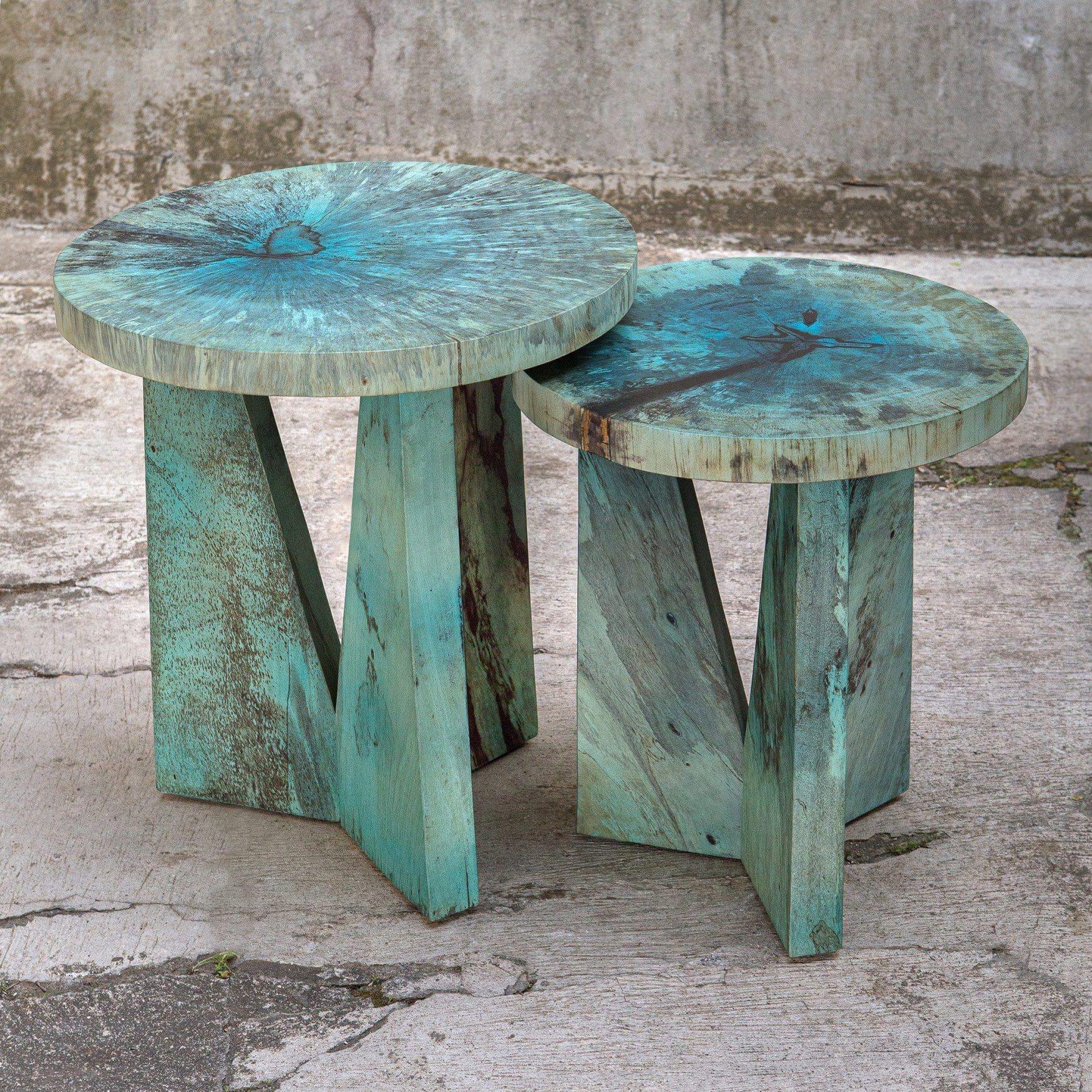 Uttermost Nadette Blue Nesting Tables, S/2