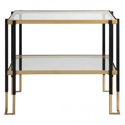 Uttermost Kentmore Glass Side Table