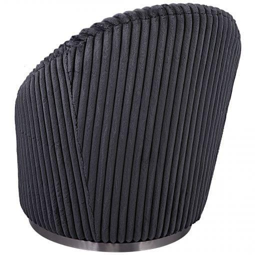 Uttermost Crue Gray Fabric Swivel Chair