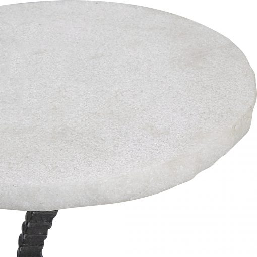 Uttermost Lasso White Drink Table