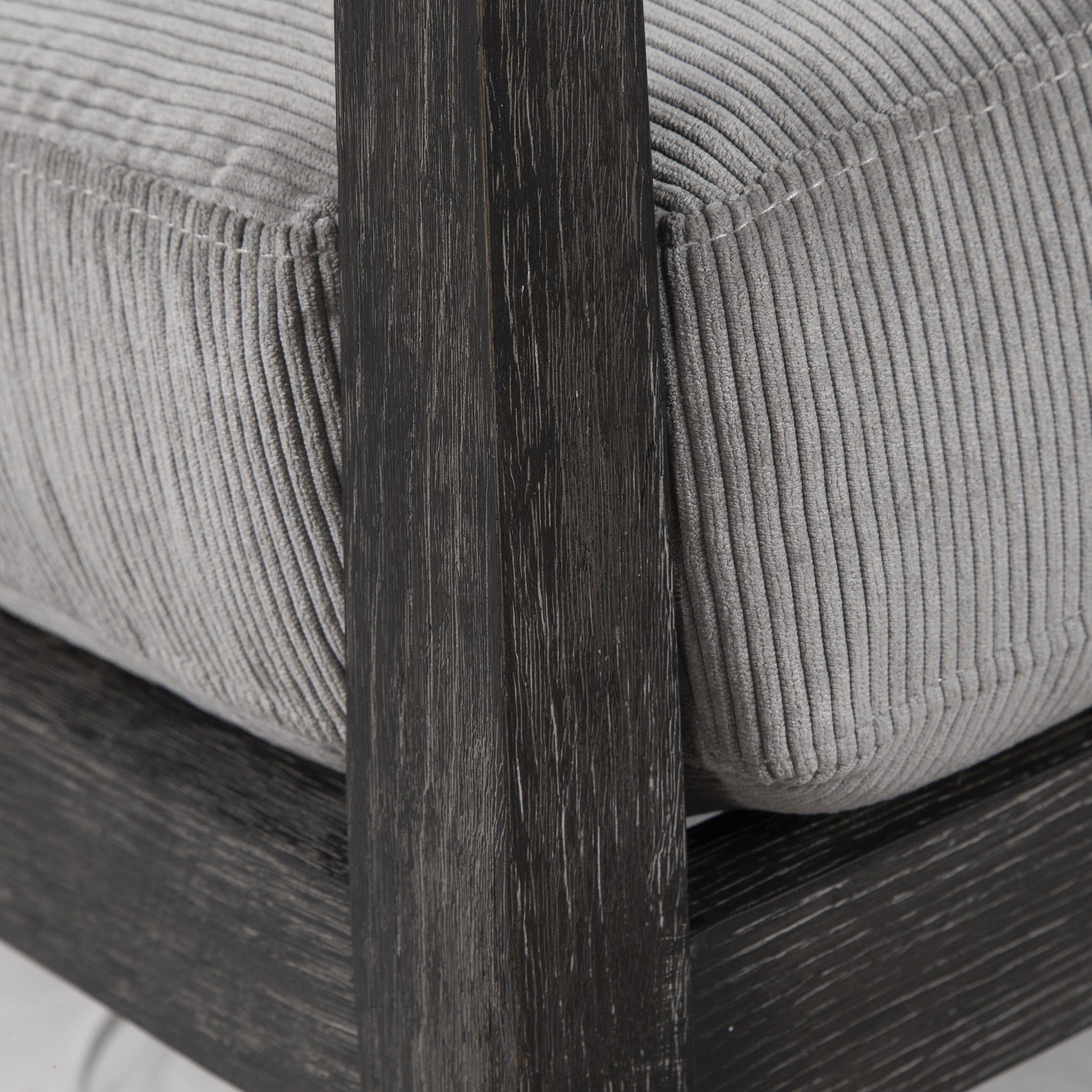 Uttermost Brunei Modern Gray Accent Chair