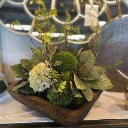 Mixed magnolia leaf/green arrangement