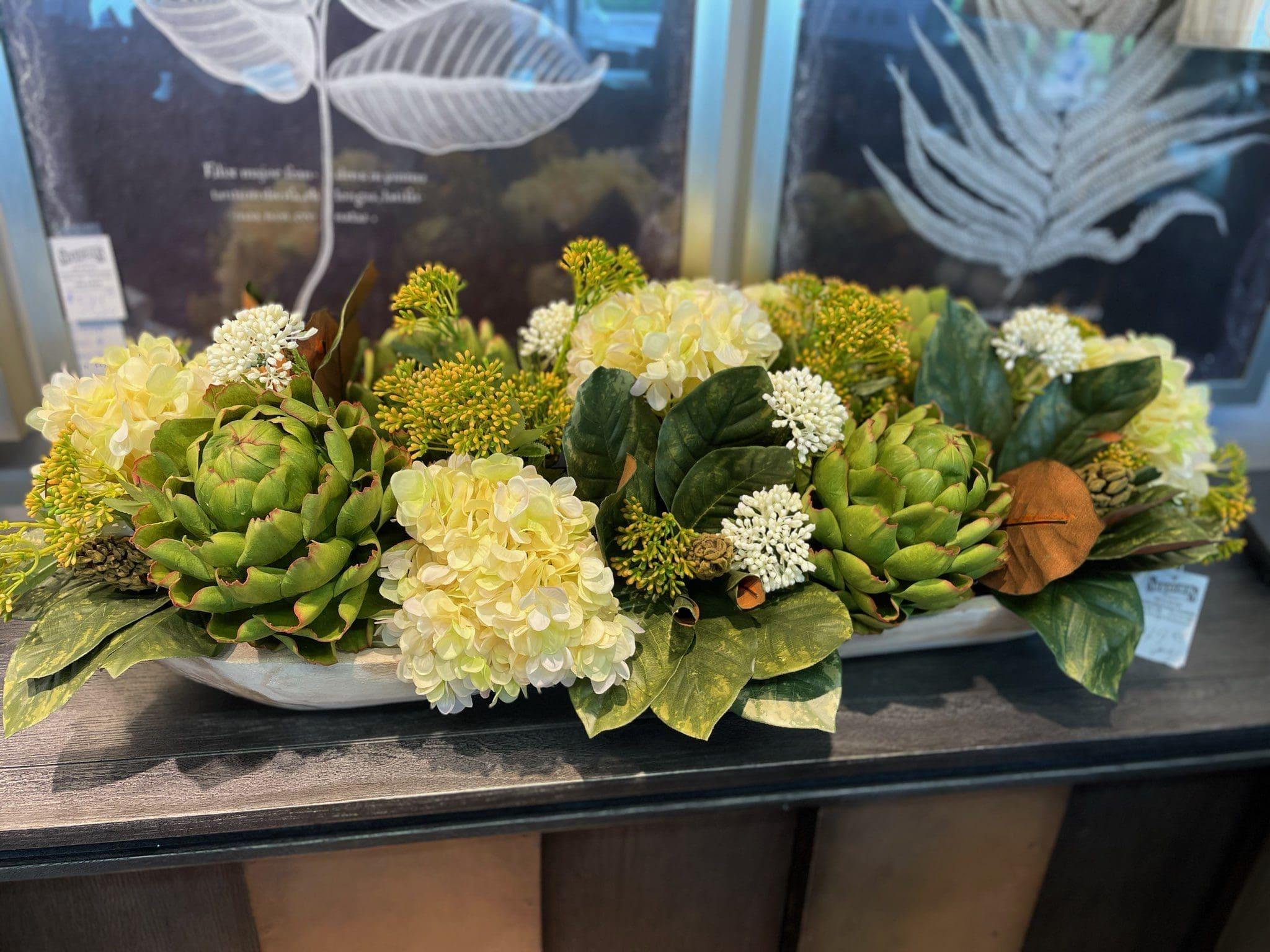 Artichoke Hydrangeas Floral Arrangement
