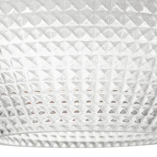 Uttermost Bolla 1 Light Pattern Glass Mini Pendant