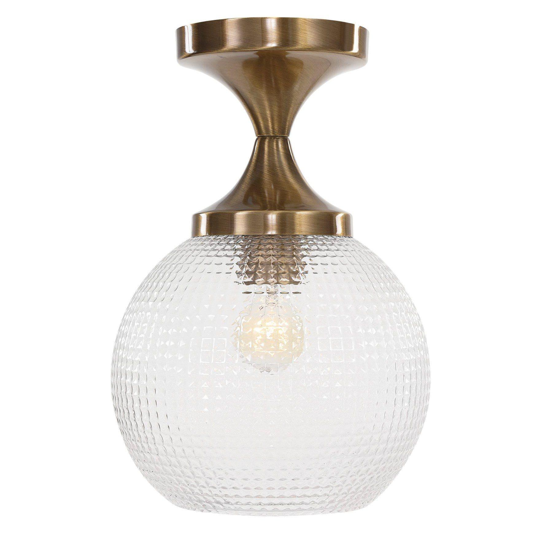 Uttermost Bolla 1 Light Pattern Glass Semi Flush Mount