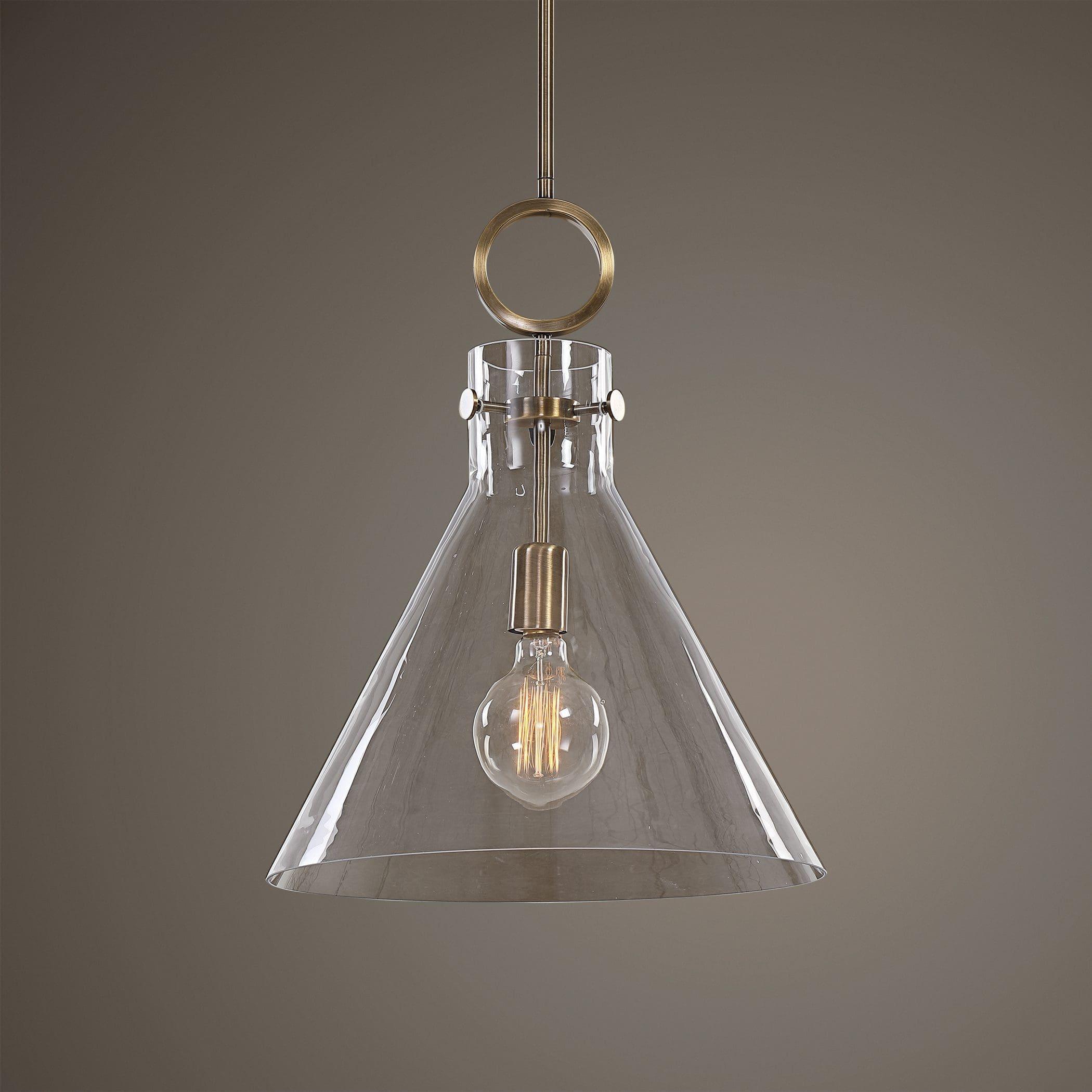 Uttermost Imbuto Funnel Glass 1 Light Pendant