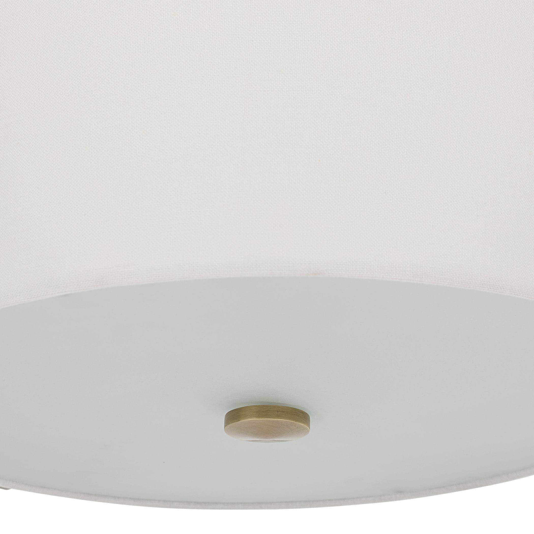 Uttermost Colfax Brass 3 Light Semi Flush