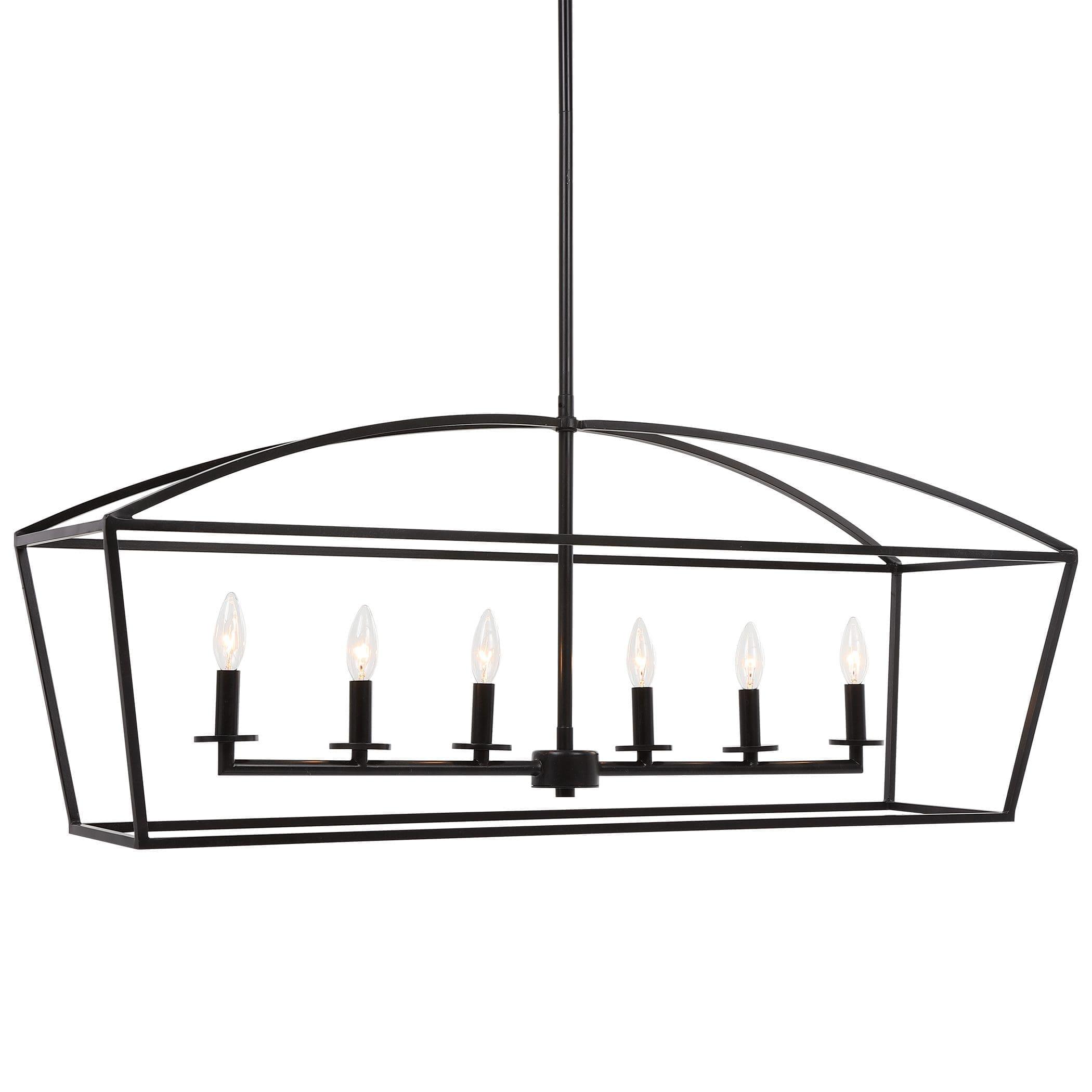 Uttermost Clayton 6 Light Linear Chandelier