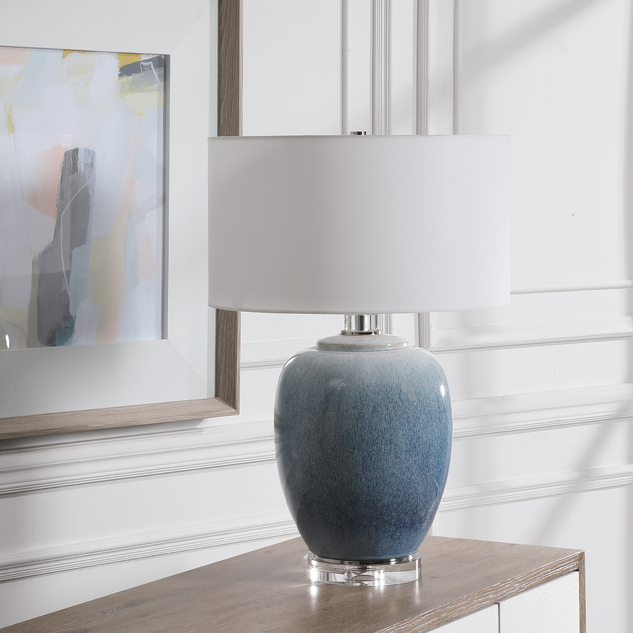 Uttermost Blue Waters Ceramic Table Lamp