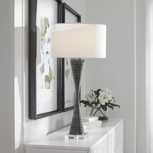 Uttermost Renegade Ribbed Iron Table Lamp