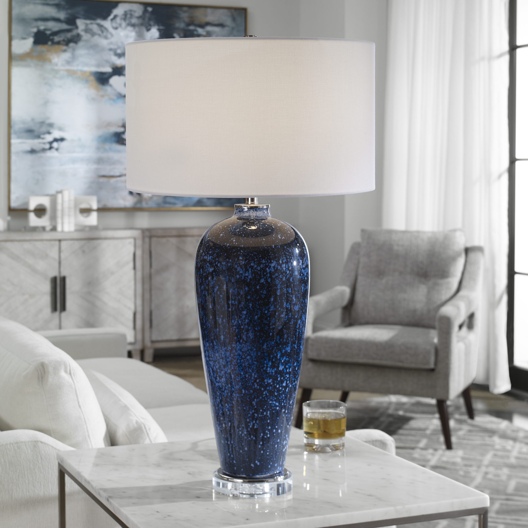 Uttermost Stargazer Cobalt Navy Table Lamp