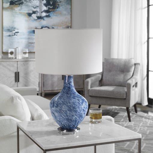 Uttermost Cove Cobalt Blue Table Lamp