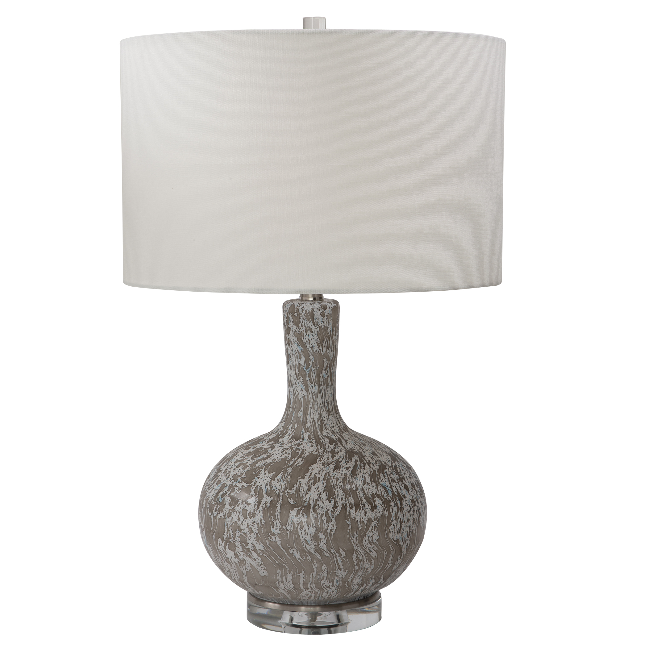 Uttermost Turbulence Distressed White Table Lamp