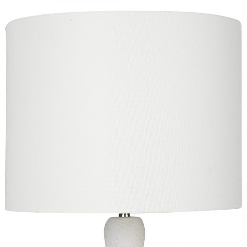 Uttermost Inverse White Marble Table Lamp