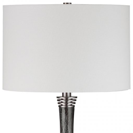 Uttermost Cosmos Charcoal Glass Buffet Lamp