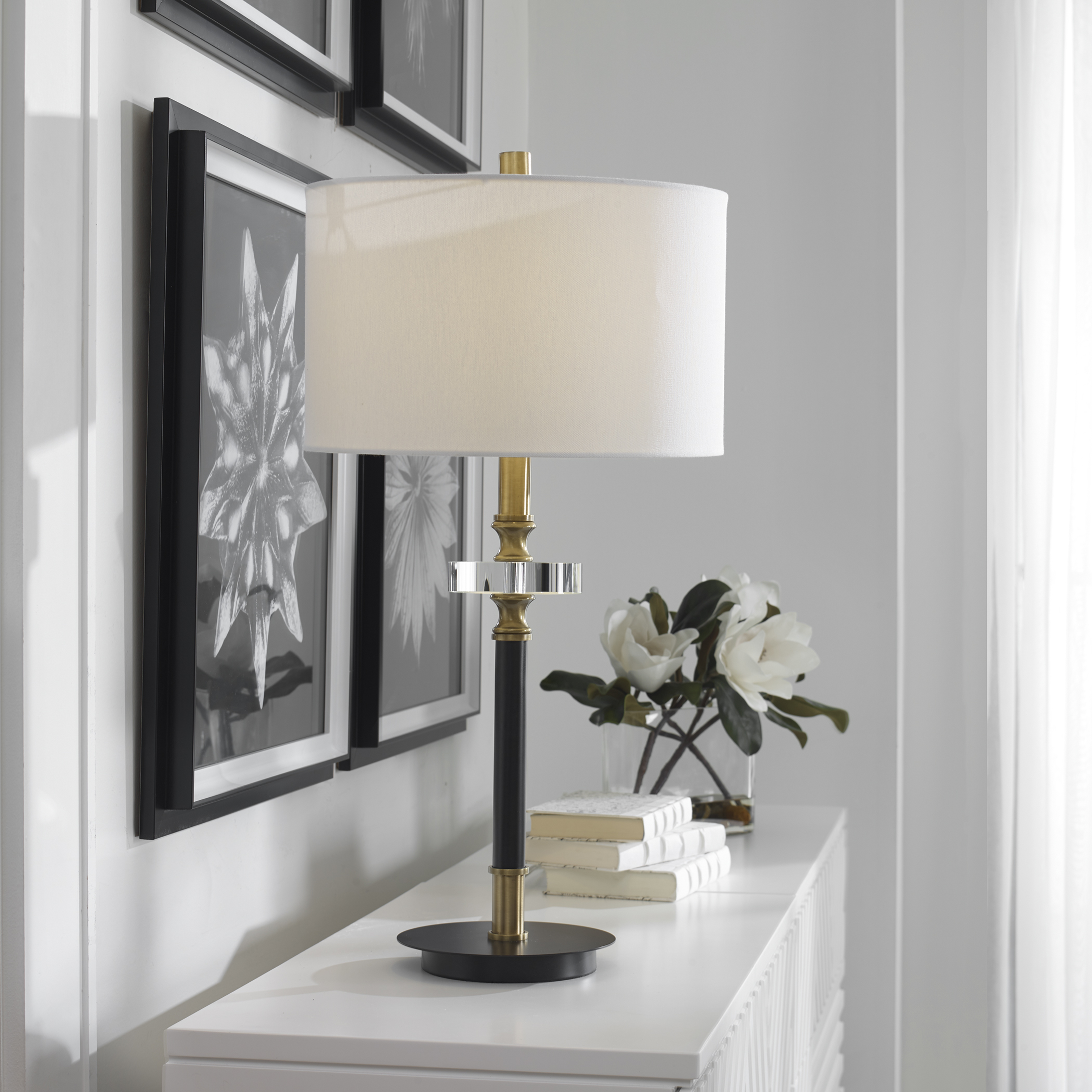 Uttermost Maud Aged Black Table Lamp