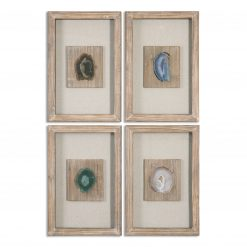 Uttermost Agate Stone, S/4