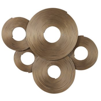 Uttermost Ahmet Gold Rings Wall Decor