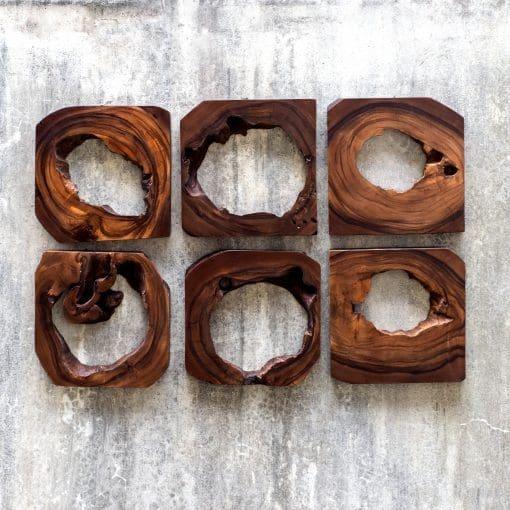 Uttermost Adlai Wood Wall Art S/6
