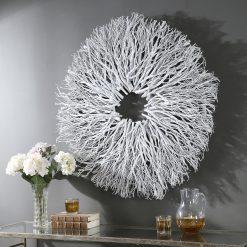 Uttermost Alene White Wood Wall Decor