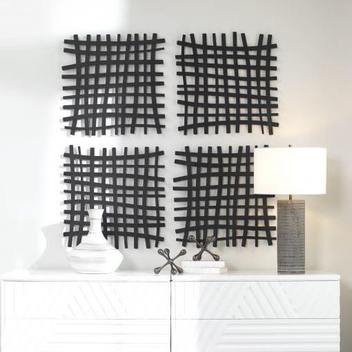 Uttermost Gridlines Iron Wall Decor