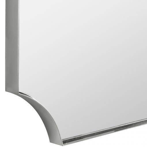 Uttermost Lennox Nickel Scalloped Corner Mirror