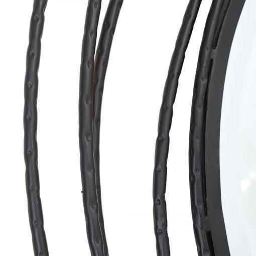 Uttermost Whirlwind Black Round Mirror